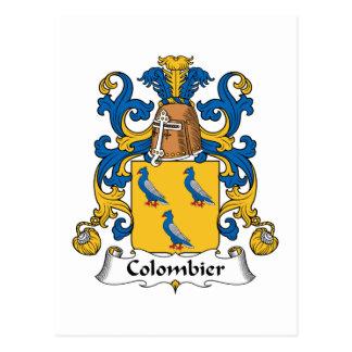 Escudo de la familia de Colombier Postales