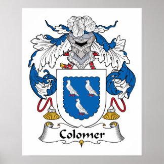Escudo de la familia de Colomer Posters