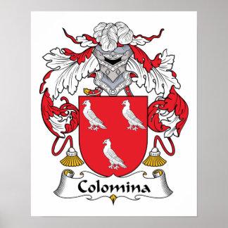 Escudo de la familia de Colomina Impresiones