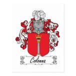 Escudo de la familia de Colonna Postal
