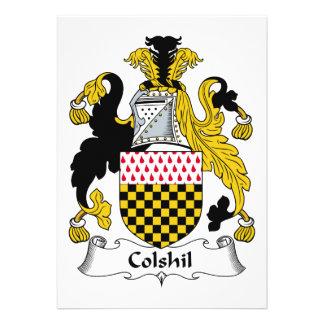 Escudo de la familia de Colshil Comunicado Personalizado
