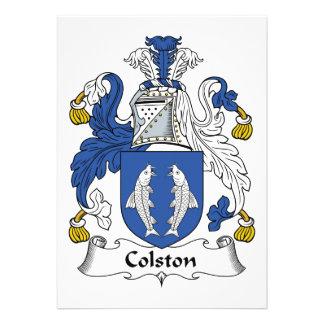 Escudo de la familia de Colston Anuncio
