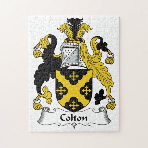 Escudo de la familia de Colton Rompecabezas