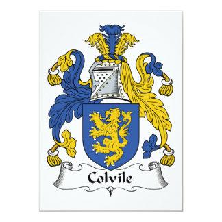 """Escudo de la familia de Colvile Invitación 5"""" X 7"""""""