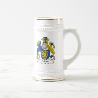 Escudo de la familia de Colvile Jarra De Cerveza