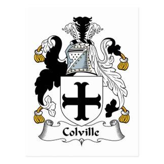 Escudo de la familia de Colville Postal