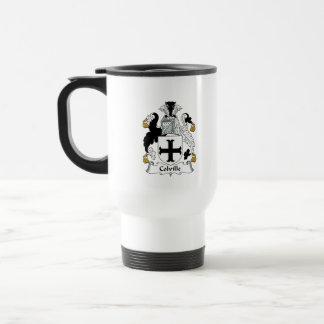 Escudo de la familia de Colville Tazas De Café