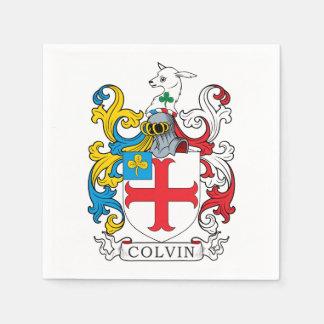 Escudo de la familia de Colvin Servilletas De Papel