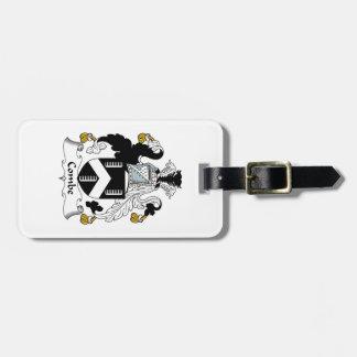 Escudo de la familia de Combe Etiqueta De Maleta