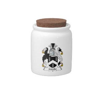Escudo de la familia de Combe Platos Para Caramelos