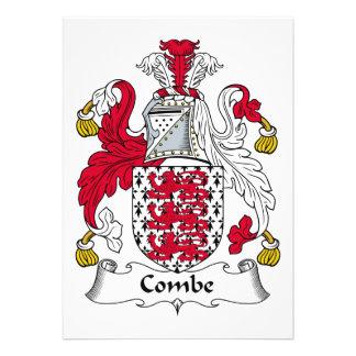 Escudo de la familia de Combe Invitacion Personalizada