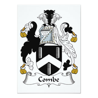 """Escudo de la familia de Combe Invitación 5"""" X 7"""""""