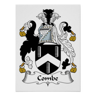 Escudo de la familia de Combe Póster