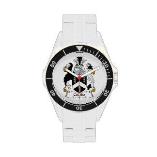 Escudo de la familia de Combe Reloj