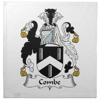 Escudo de la familia de Combe Servilleta Imprimida