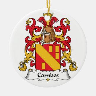 Escudo de la familia de Combes Adorno Redondo De Cerámica