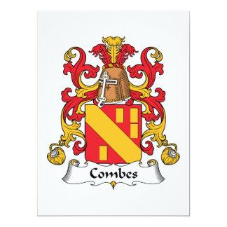 Escudo de la familia de Combes Invitación 16,5 X 22,2 Cm