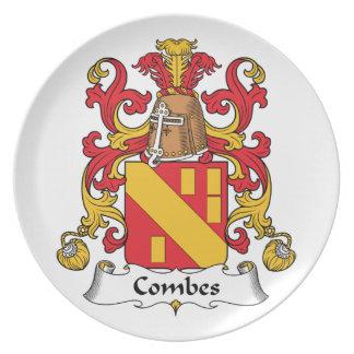 Escudo de la familia de Combes Plato De Cena
