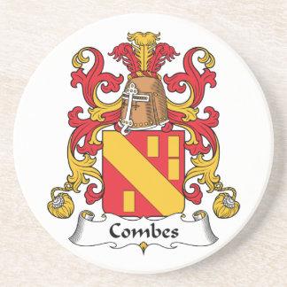 Escudo de la familia de Combes Posavasos Diseño