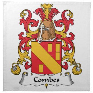 Escudo de la familia de Combes Servilletas