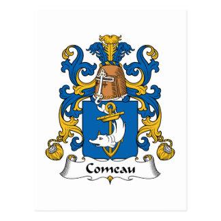 Escudo de la familia de Comeau Postal