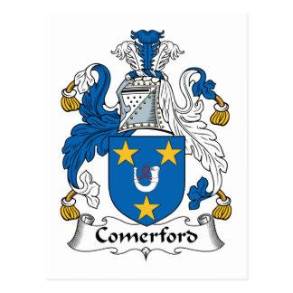 Escudo de la familia de Comerford Tarjetas Postales