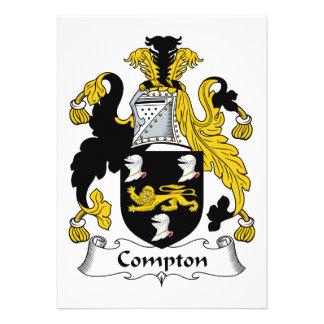 Escudo de la familia de Compton Comunicado Personalizado