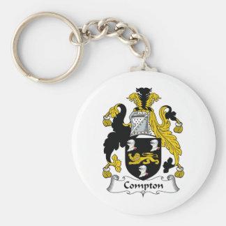 Escudo de la familia de Compton Llavero Personalizado