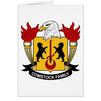 Escudo de la familia de Comstock Tarjeta De Felicitación
