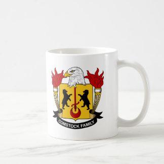 Escudo de la familia de Comstock Tazas De Café