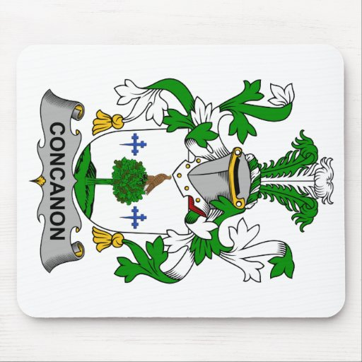 Escudo de la familia de Concanon Mousepad