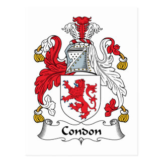 Escudo de la familia de Condon Tarjetas Postales