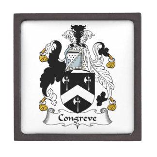 Escudo de la familia de Congreve Cajas De Joyas De Calidad