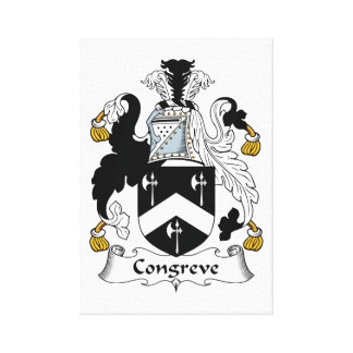 Escudo de la familia de Congreve Lona Envuelta Para Galerías