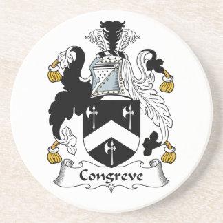 Escudo de la familia de Congreve Posavasos Manualidades
