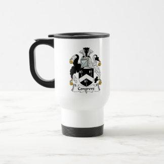 Escudo de la familia de Congreve Tazas De Café