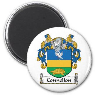 Escudo de la familia de Connellon Imán Redondo 5 Cm