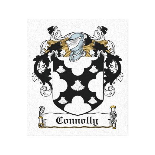 Escudo de la familia de Connolly Lienzo Envuelto Para Galerias