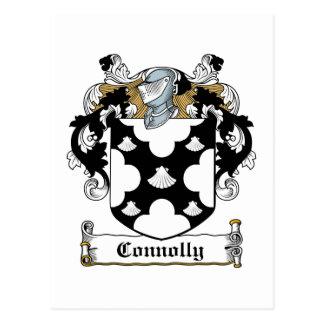 Escudo de la familia de Connolly Tarjetas Postales