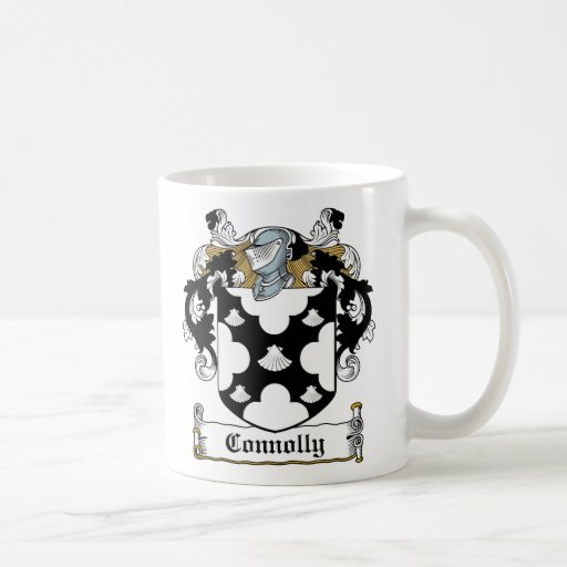 Escudo de la familia de Connolly Taza Básica Blanca