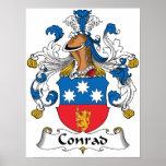 Escudo de la familia de Conrado Impresiones