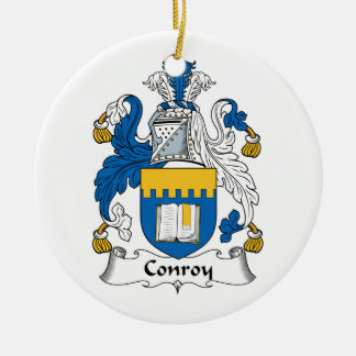 Escudo de la familia de Conroy Adorno Navideño Redondo De Cerámica