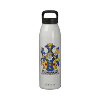 Escudo de la familia de Consnave Botella De Agua Reutilizable
