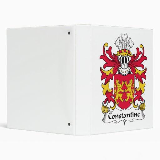 "Escudo de la familia de Constantina Carpeta 1"""