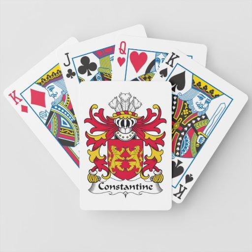 Escudo de la familia de Constantina Baraja Cartas De Poker