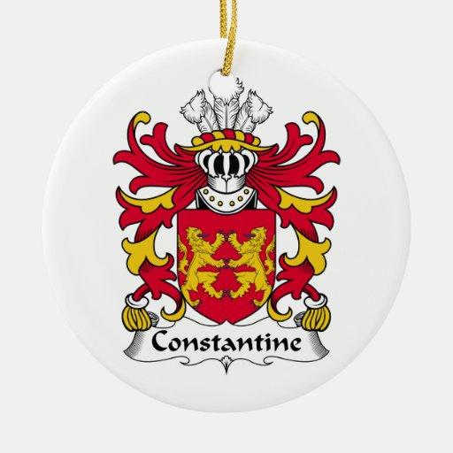 Escudo de la familia de Constantina Ornamento Para Reyes Magos
