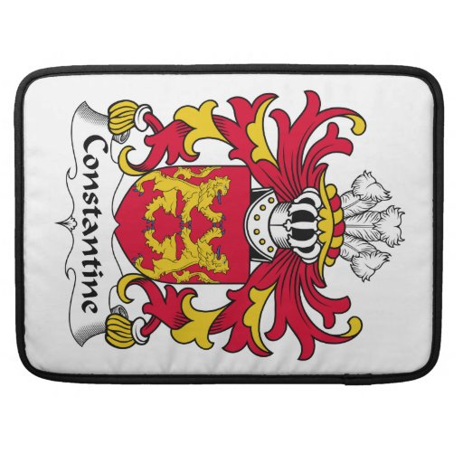Escudo de la familia de Constantina Funda Para Macbooks