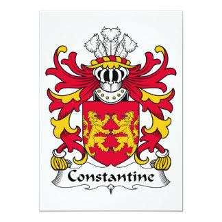 Escudo de la familia de Constantina Invitación 12,7 X 17,8 Cm