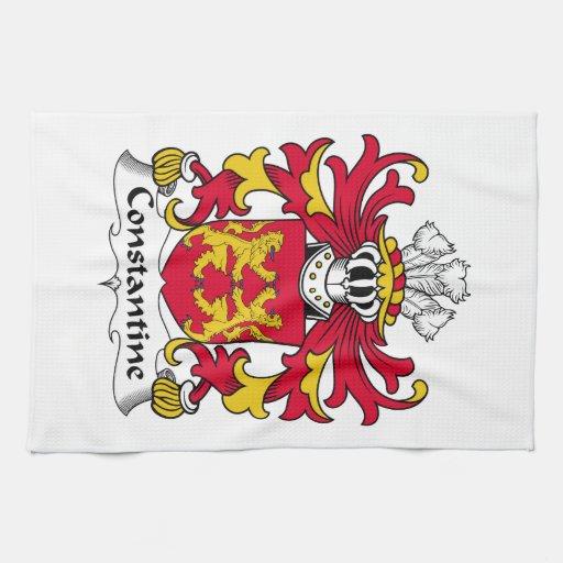 Escudo de la familia de Constantina Toallas De Cocina