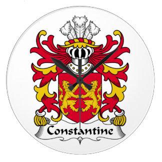 Escudo de la familia de Constantina Relojes De Pared